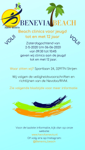 2020 Flyer Beach Clinics jeugd vol